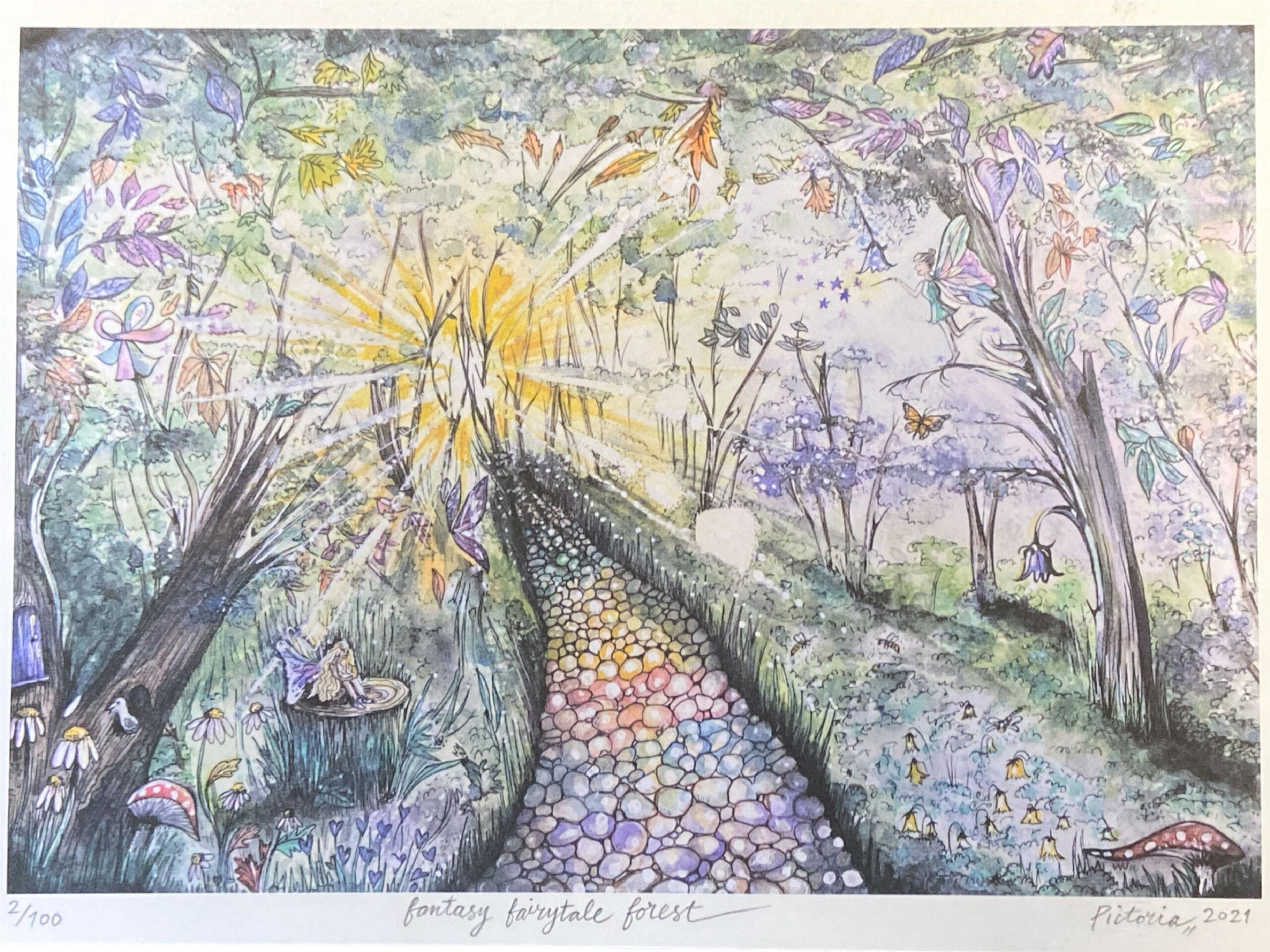 Fantasy Fairytale Forest Print